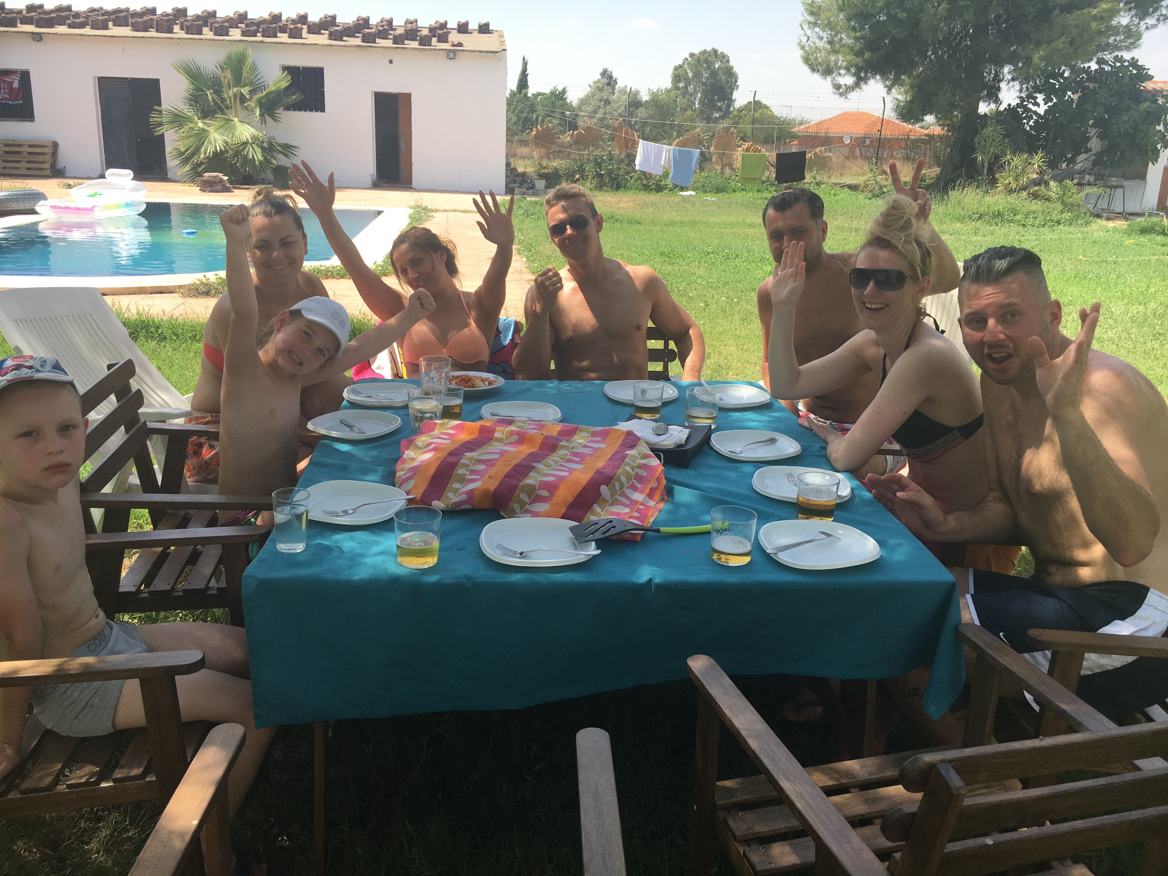 Paella by the swimming pool in seville in seville - Swimming pool seville ...