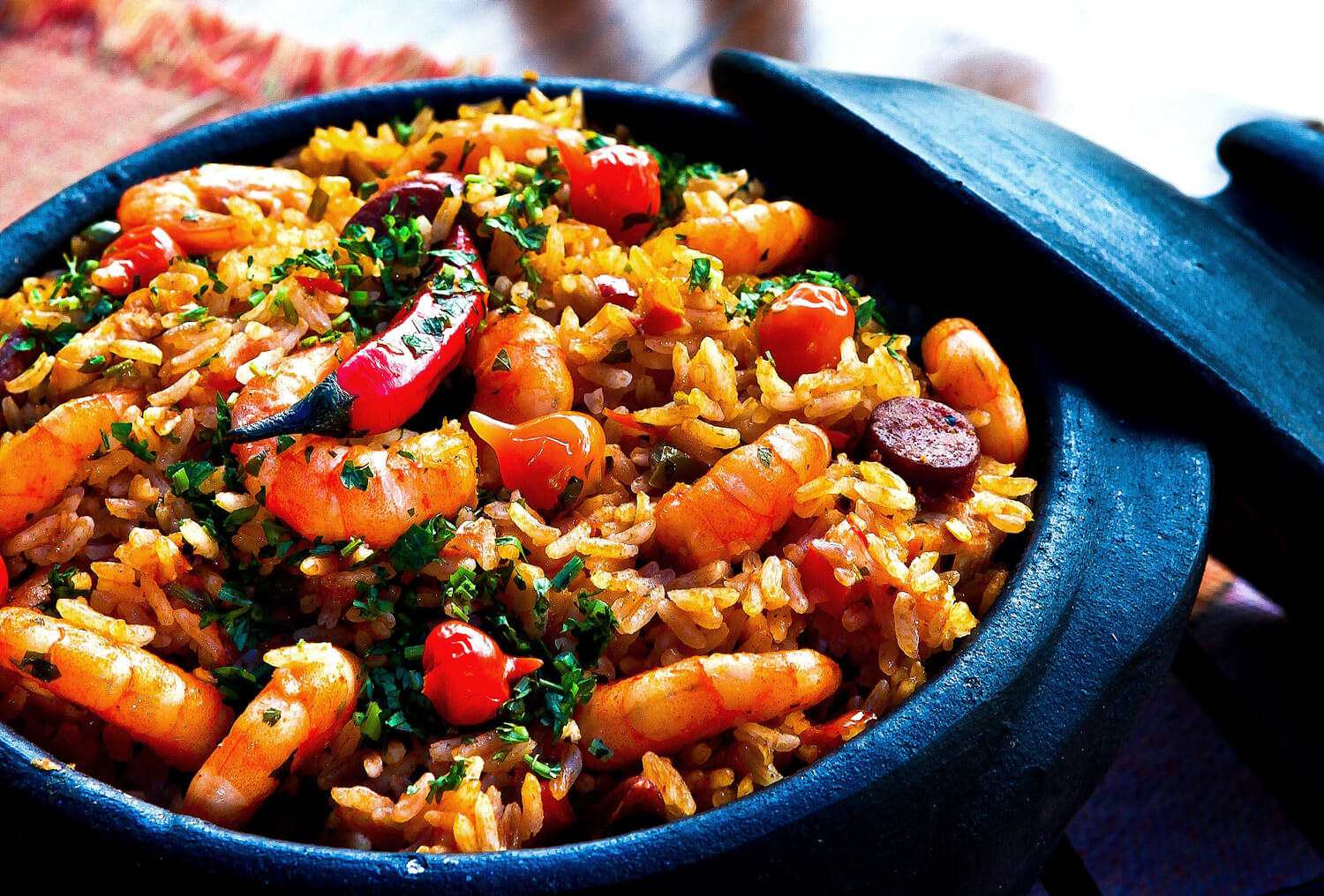 home-made paella lunch
